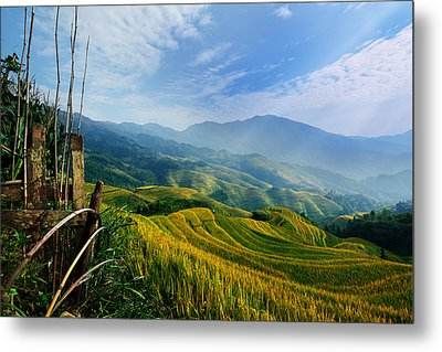 Metal Print featuring the photograph Village Of Mist 11 by Afrison Ma