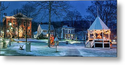Village Of New Milford - Winter Panoramic Metal Print