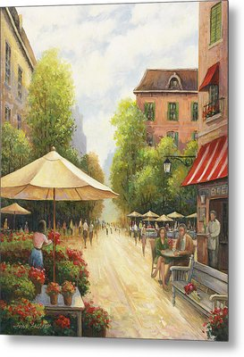 Village Scene Metal Print by John Zaccheo