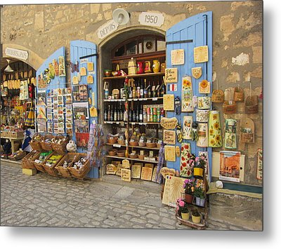 Village Shop Display Metal Print
