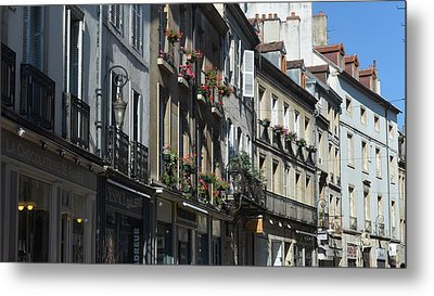 Village Shops Metal Print