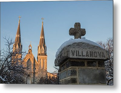 Villanova Wall And Chapel Metal Print