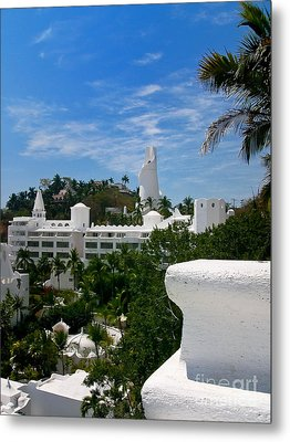 Villas On A Hillside In Manzanillo Mexico Metal Print