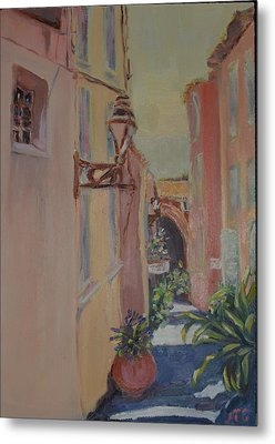 Metal Print featuring the painting Ville Franche by Julie Todd-Cundiff