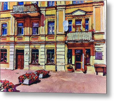 Vilnius Old Town Architecture Metal Print by Yury Malkov