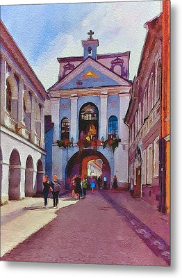Vilnius Old Town Golden Gate 1 Metal Print by Yury Malkov