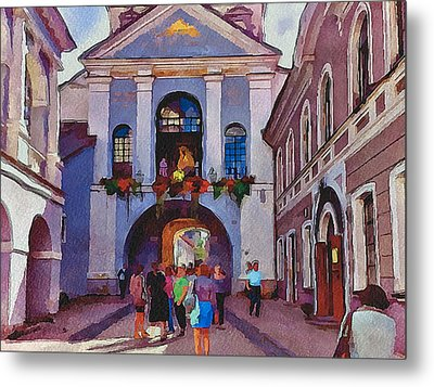 Vilnius Old Town Golden Gate 2 Metal Print by Yury Malkov