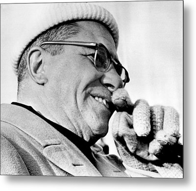 Vince Lombardi Close Up Metal Print by Retro Images Archive