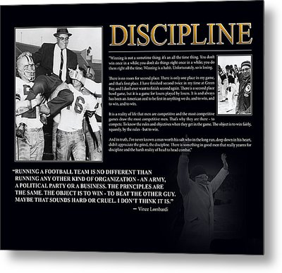 Vince Lombardi Discipline Metal Print by Retro Images Archive