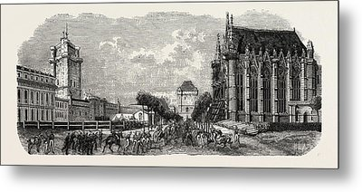 Vincennes Castle Courtyard Metal Print