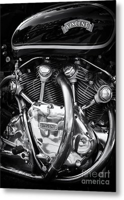 Vincent Engine Metal Print by Tim Gainey