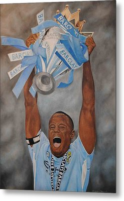 Metal Print featuring the painting Vincent Kompany by David Dunne
