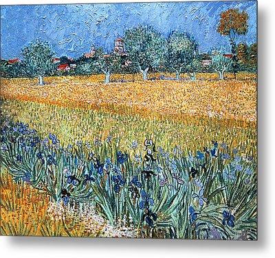 Field With Flowers Near Arles Metal Print