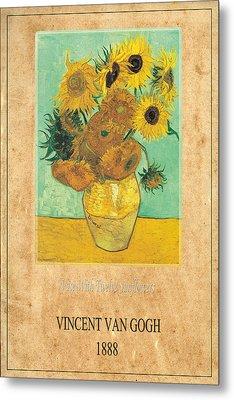 Vincent Van Gogh 2 Metal Print by Andrew Fare