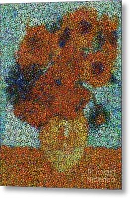 Vincent Van Gogh Sunflowers 2.0 - V2 Metal Print by Edward Fielding
