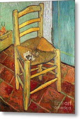 Vincent's Chair 1888 Metal Print by Vincent van Gogh