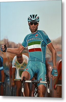 Vincenzo Nibali Painting Metal Print by Paul Meijering