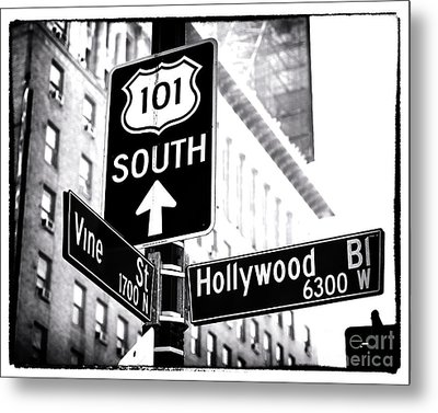 Vine And Hollywood Metal Print by John Rizzuto