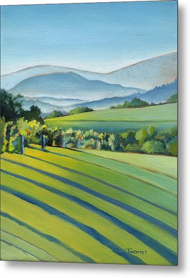 Vineyard Blue Ridge On Buck Mountain Road Virginia Metal Print by Catherine Twomey