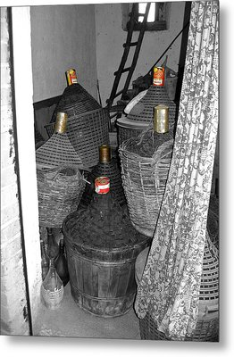 Metal Print featuring the photograph Vino Chianti by Victoria Lakes