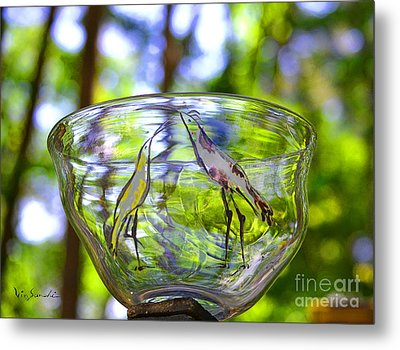 Vinsanchi Glass Art-4 Metal Print by Vin Kitayama