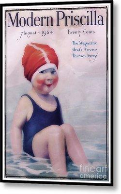 Vintage 1924 - Modern Priscilla Metal Print