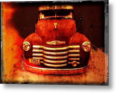Vintage 1950 Chevy Truck Metal Print