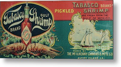 Vintage Advertisement Metal Print