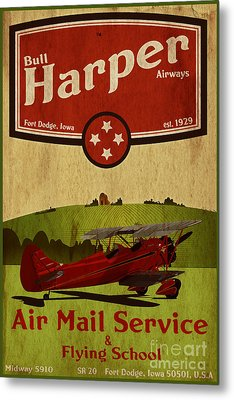 Vintage Air Mail Service Metal Print by Cinema Photography