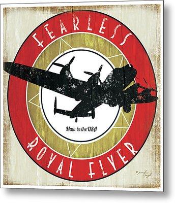 Vintage Airplane Metal Print by Jennifer Pugh