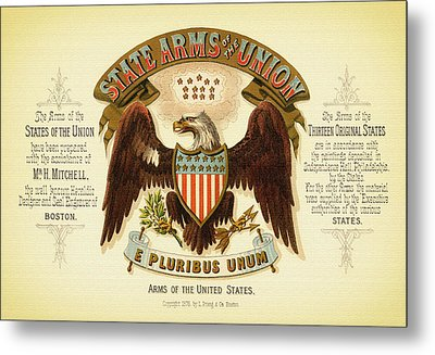 Vintage Arms Of The United States - 1876 Metal Print
