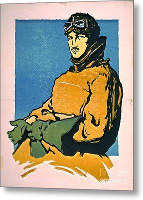 Vintage Aviator 1916 Metal Print by Padre Art