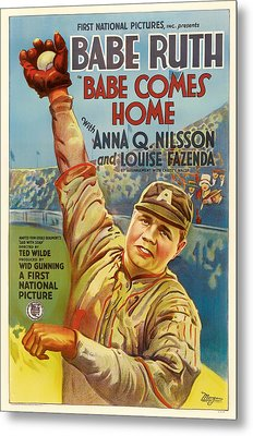 Vintage Babe Comes Home Movie Poster Metal Print