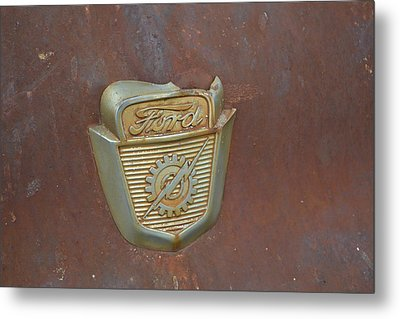 Vintage Badge Metal Print