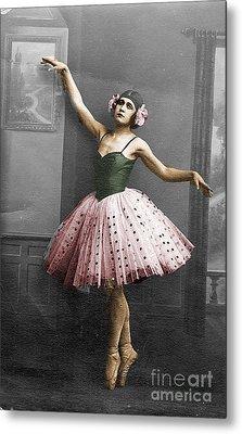 Vintage Ballerina  Metal Print