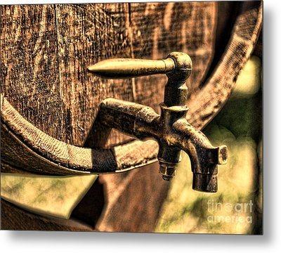 Vintage Barrel Tap Metal Print by Paul Ward