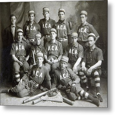 Vintage Baseball Team Metal Print by Russell Shively