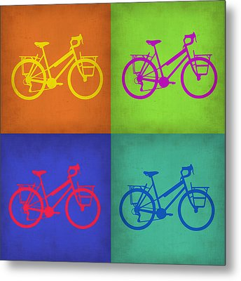 Vintage Bicycle Pop Art 1 Metal Print