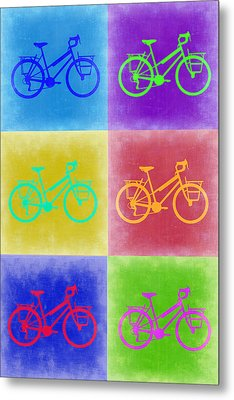 Vintage Bicycle Pop Art 2 Metal Print