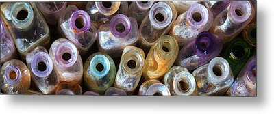 Metal Print featuring the photograph Vintage Bottles by Beverly Parks