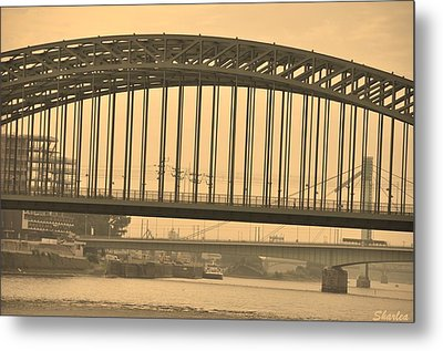 Vintage Bridge Metal Print