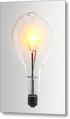 Vintage Bulb Metal Print by Carlos Caetano