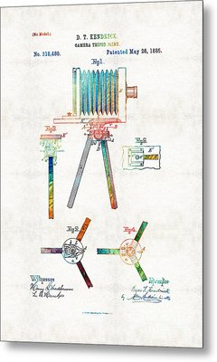 Vintage Camera Art - Tripod Joint - By Sharon Cummings Metal Print by Sharon Cummings