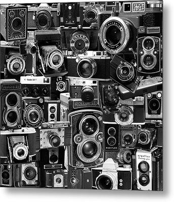 Vintage Camera Montage Metal Print