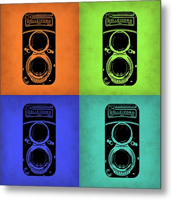 Vintage Camera Pop Art 1 Metal Print by Naxart Studio