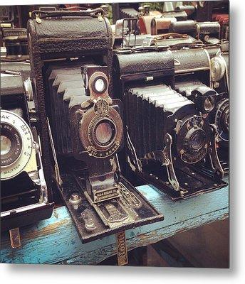 Vintage Cameras Metal Print by Sarah Coppola