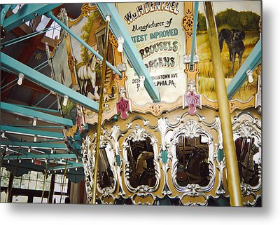 Metal Print featuring the photograph Vintage Carousel by Debra Crank