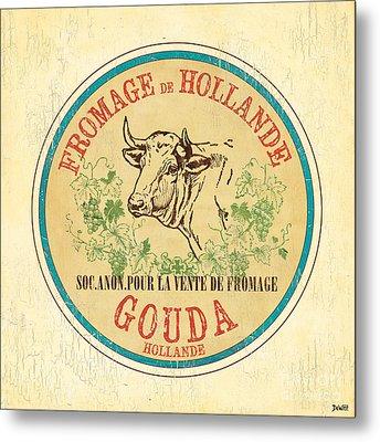 Vintage Cheese Label 1 Metal Print by Debbie DeWitt
