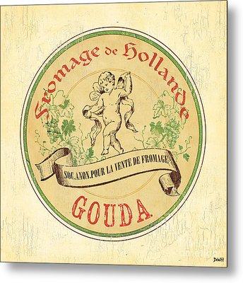 Vintage Cheese Label 2 Metal Print