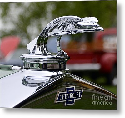 Vintage Chevrolet Hood Ornament Metal Print by JRP Photography